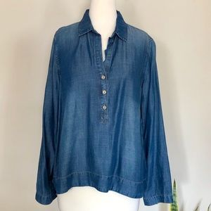 ANTHROPOLOGIE Cloth & Stone Denim Tunic